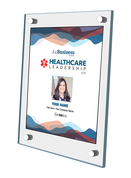 "Healthcare Leadership Awards 2019;  Style B Stand-off Wall  plaque.   Dimensions are: 11"" X 16.5""  A plaque for Healthcare Leadership Award comes with or without image. The image on this plaque is the same image as in the magazine. If you prefer no image, please indicate same in the Comment Box at sale completion."