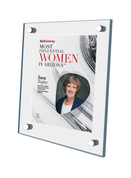 "AZ Business magazine 2019 Most Influential Women Acrylic Wall Plaque Style B with photo Size is 11"" x 16.5"" Please state the name of Most Influential Women in the Comment Box at check-out"