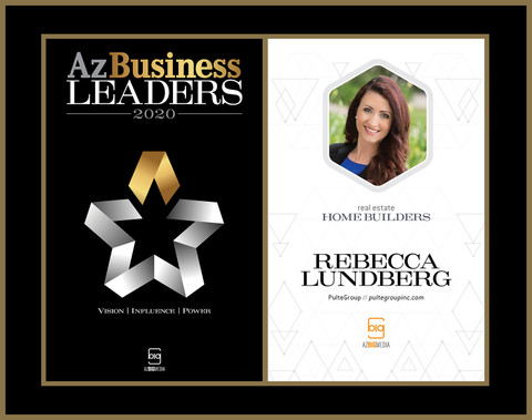 Az Business Leaders 2020 Black Wood with gold trim Double Plaque - Style A with Photo