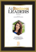 Az Business Leaders 2020 Black wood with gold trim plaque - Style B with photo