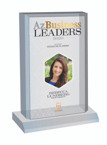 Az Business Leaders 2020 Acrylic Desk-Top Plaque - Style C with photo