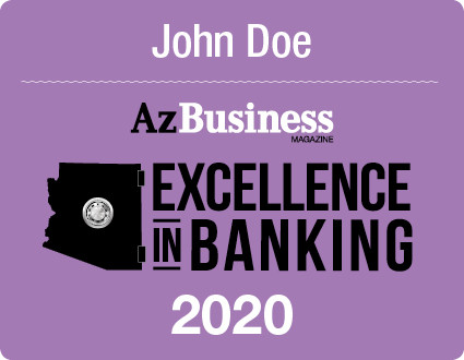 The 2020 Excellence in Banking Digital Emblem is the perfect component to your social media, email signature line, LinkedIn profile, and/or your company website!  Emblems come with your name.  If you would like your company name listed also, please state that in the comment box at check-out.   If you have any questions, please contact Sara Fregapane @ (602)424-8838. Digital emblems will be emailed to you within 48-72 hours.
