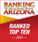 Ranking Arizona Vertical Emblem - Ranked Top Ten