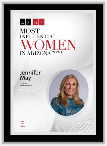 """AZRE  magazine 2020 Most Influential Women Wood Frame Plaque Style A - Black with Silver Trim with photo Size is 11"""" x 15.75"""" Please state the name of Most Influential Women in the Comment Box at check-out"""