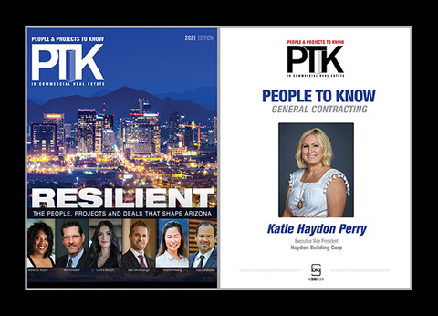 Style A 2020 People to Know (PTK) plaque - Black Double plaque with silver trim.  This plaque comes with the same image that appears in the magazine.  If you would like a different photo, please contact Sara@azBIGmedia.com or (602) 277-6045