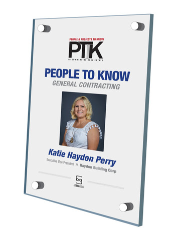 Style D People to Know 2020 (PTK) plaque - Acrylic Stand-Off Wall Plaque.  This plaque comes with or without an image.  Please indicate in the Comment Box at sale completion if you would like a plaque with image (same image as in the magazine) or without an image (words only).  You may also contact Sara Fregapane at 602-277-6045 if you have questions.