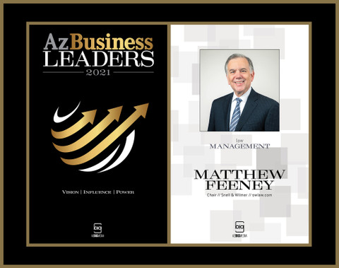Az Business Leaders 2021 Black Wood Double Plaque with gold trim - Style A with Photo
