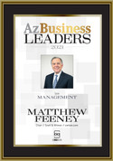 Az Business Leaders 2021 Black wood with gold trim plaque - Style B with photo