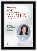 """AZ Business  magazine 2021 Most Influential Women Wood Frame Plaque Style A - Black with Silver Trim with photo Size is 11"""" x 15.75"""" Please state the name of Most Influential Women in the Comment Box at check-out"""