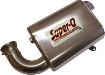 Skinz Polished Ceramic Super-Q Silencer For 2008 SkiDoo MX-Z Renegade 600 HO SDI