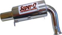 Skinz Polished Ceramic Super-Q Silencer For 1999-2003 Yamaha SRX600