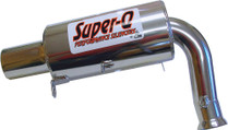 Skinz Polished Ceramic Super-Q Silencer For 1997-2001 Yamaha SRX700