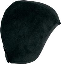 Black - Schampa Fleece Skullcap w/ Ponytail Holder
