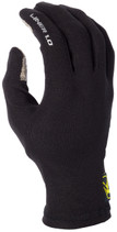 Mens  - Black - Klim Liner 1.0 Base Layer Glove Liners