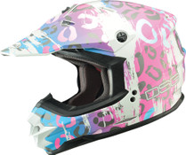 Divas Snow Gear GM76X Leopard Snowcross Helmet by GMAX