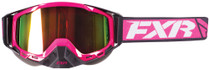 Adult Smoke Lens w/ Atomic Pink Finish - Fuchsia/Black - FXR Core Goggle 2017