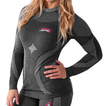 FXR Womens 25% Vapour Seamless Compession Long Sleeve Base Layer Top 2017