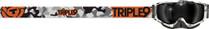 Snow Camo/Orange - Triple 9 Optics Switch Snowmobile Goggles