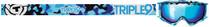 Blue Camo - Triple 9 Optics Switch Snowmobile Goggles