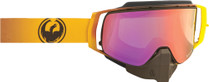 Yellow/Black - Dragon NFX2 Burn Frameless Snowmobile Goggles