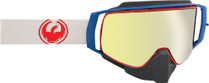 Blue/Red/White - Dragon NFX2 Crimson Frameless Snowmobile Goggles