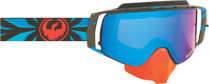 Blue/Black/Red - Dragon NFX2 Factor Frameless Snowmobile Goggles