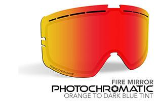 Fire Mirror//Photochromatic Orange to Dark Blue 509 Sinister X5 Lens