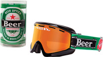 Green/Black - Beer Optics Heiny Snowmobile Goggles