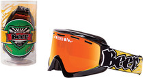 Black/Yellow - Beer Optics Foamy Snowmobile Goggles