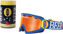 Blue/White/Yellow - Beer Optics Fosty Snowmobile Goggles