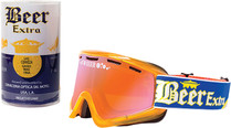Blue/Yellow/White - Beer Optics Cerveza Snowmobile Goggles