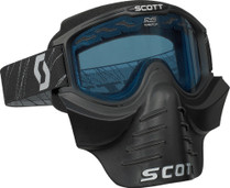 Black - Scott 83X Safari Snowmobile Goggles w/ Facemask