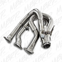 MBRP Polished Stainless Steel Header & Trail Silencer 2009-15 Ski-Doo 1200 4-Tec