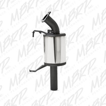 MBRP Stainless Steel Trail Silencer For 2014-2016 Yamaha SRViper XTX