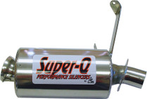 Skinz Polished Ceramic Super-Q Silencer 1998-2000 Arctic Cat Powder Special 500