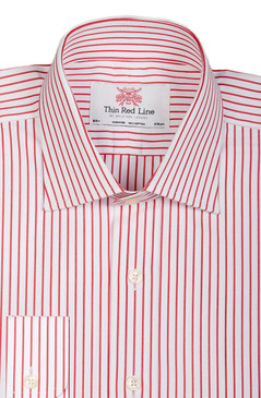 City Stripe White & Red (Slim fit)