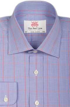 Prince of Wales Blue & Red Check (Regular fit)