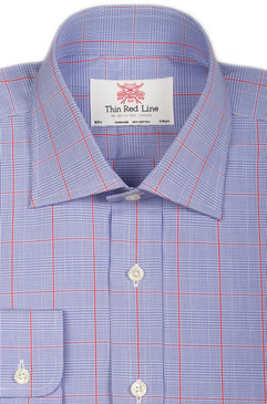 Prince of Wales Blue & Red Check (Slim fit)