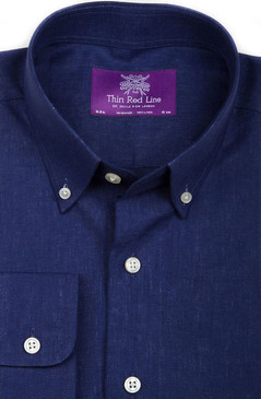 Pure Linen Indigo (Semi-fitted)