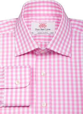 Wild Gingham Pink (Slim Fit)