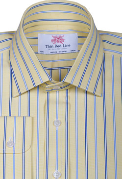 Wales stripe sky yellow(Slim Fit)