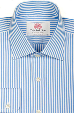 Bengal Stripe Sky Blue & White (Regular fit)