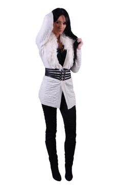 Fringed shawl collar cardigan