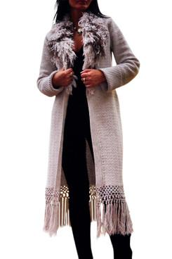 Long Fringe Coat