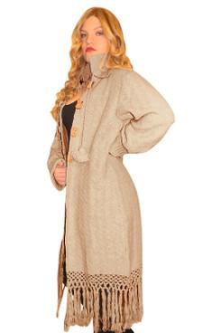 Bohemian fringe coat