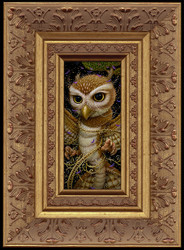 Dragon Owl framed