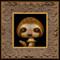 Shroom Sloth framed