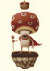 """Limited Edition Print """"ShroomKing 02"""" close-up"""