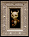Skull Dragon 02 framed