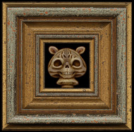 SkullShroom Cat framed
